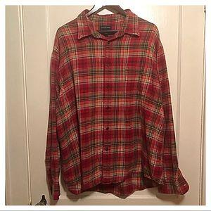 {Lands' End} Flannel Shirt, XXL (18-18.5)